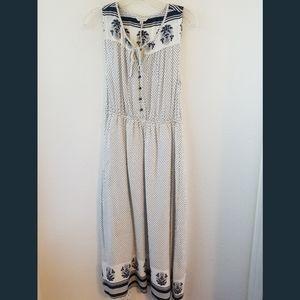 Lucky Brand NWT Sleeveless Polka Dot Print Dress S